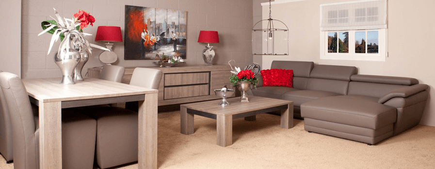 Blank eiken meubelen