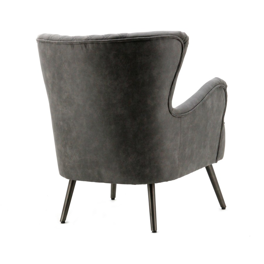 Fauteuil Daisy - antraciet jeep