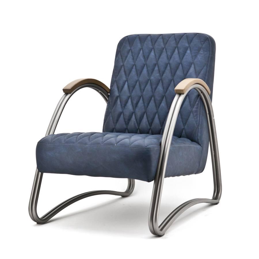 fauteuil mike blauw vintage aanbieding fauteuils bij poppeliers meubelen. Black Bedroom Furniture Sets. Home Design Ideas