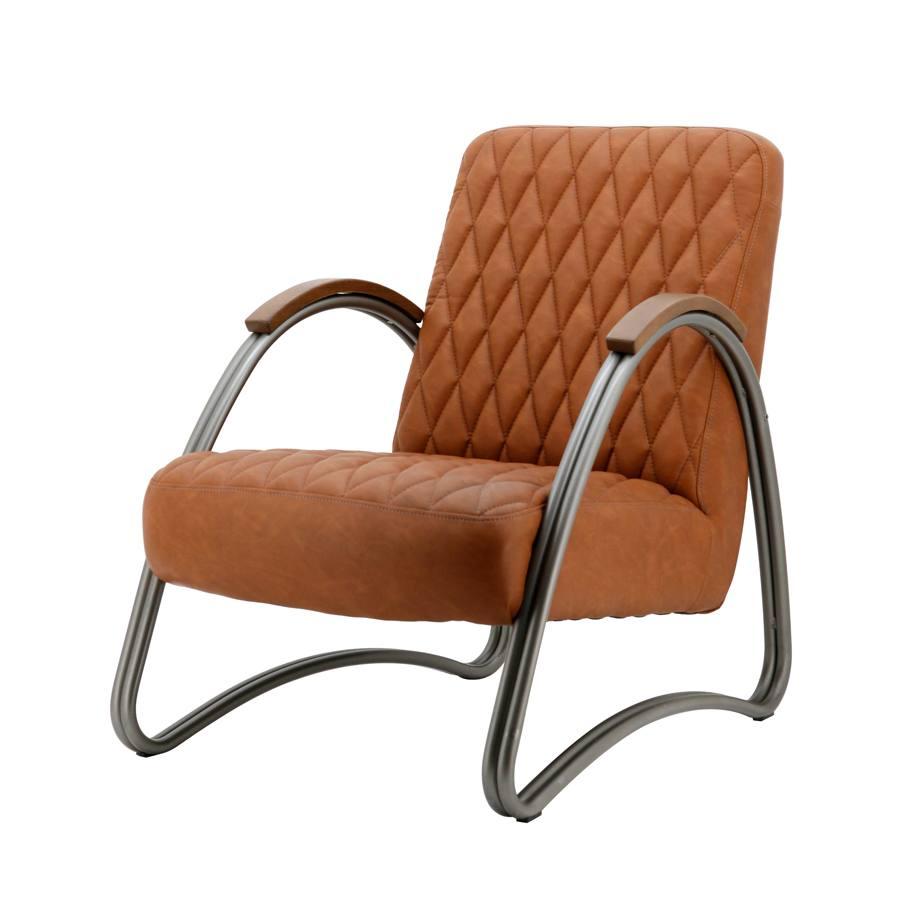 fauteuil mike cognac vintage aanbieding fauteuils bij poppeliers meubelen. Black Bedroom Furniture Sets. Home Design Ideas