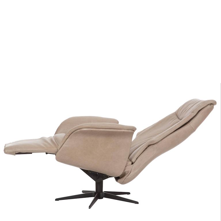 Maat fauteuil York in dik rundleder