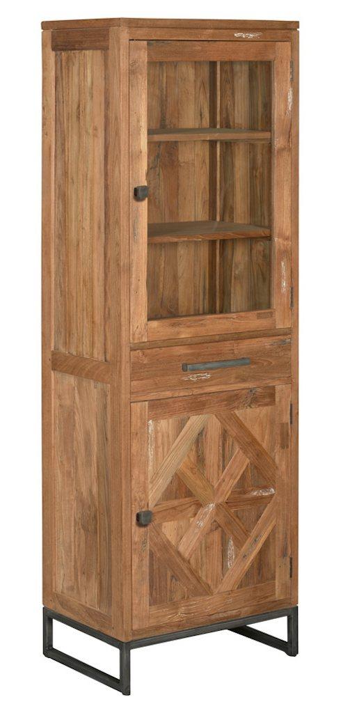 Mascio vitrinekast 2 deuren en 1 lade