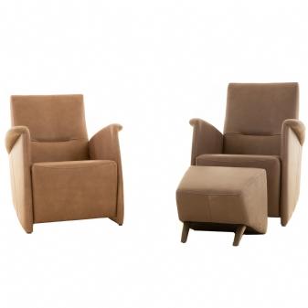 2 fauteuils met hocker Henri