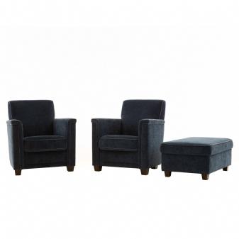 2x fauteuil + hocker , Gerlag