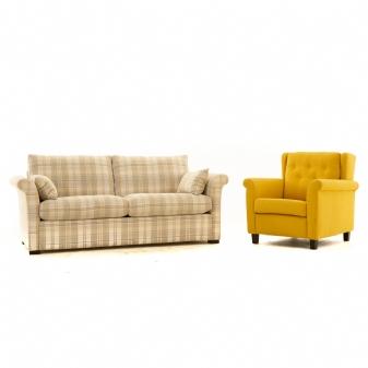 Bank + fauteuil Meubi