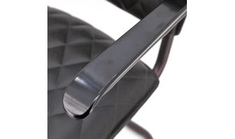 Eetkamerstoel Vesper met armleuning - antraciet pu
