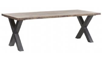 Eetkamertafel met stalen kruispoot Veenendaal 190 cm