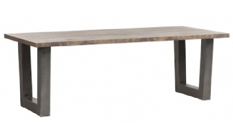 Eetkamertafel met stalen U poot 160 cm