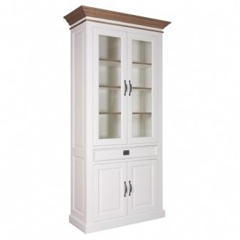 Ermelo vitrinekast 4 deuren en 1 lade