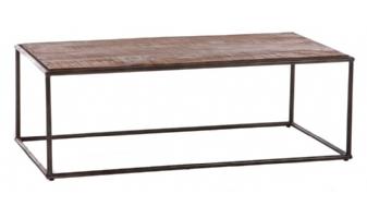 Langwerpige industriële salontafel