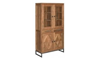 Mascio vitrinekast 4 deuren en 2 laden