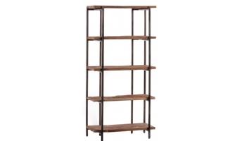 Retro teak houten boekenkast met 5 planken