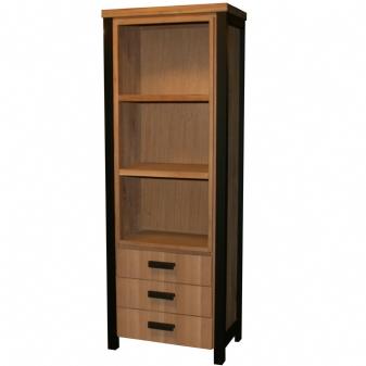 Tholen boekenkast met 3 laden