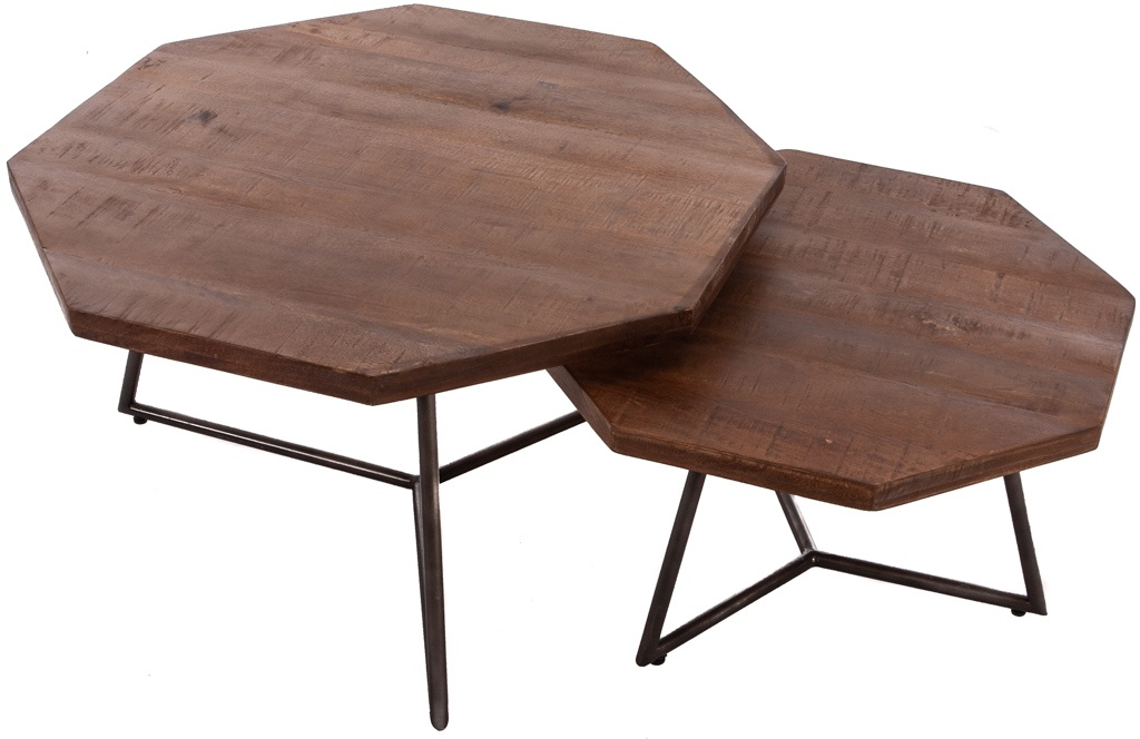Trendy retro salontafel set van 2 Diangi